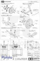 Instructions for Tamiya high-speed gearbox page 4.