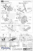 Instructions for Tamiya high-power gearbox page 4.