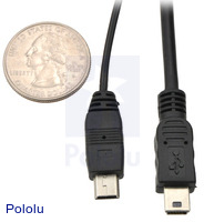 USB cable size comparison (product #1129 on left, #130 on right).