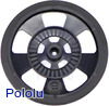 Solarbotics SW-B BLACK Servo Wheel with Encoder Stripes, Silicone Tire