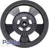 Solarbotics SW-B BLACK Servo Wheel with Encoder Stripes, Silicone Tire