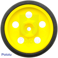 "Solarbotics GM10 1"" Wheel Yellow"