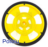 Solarbotics GMPW-Y YELLOW Wheel with Encoder Stripes, Silicone Tire