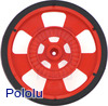 Solarbotics SW-R RED Servo Wheel with Encoder Stripes, Silicone Tire