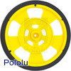 Solarbotics SW-Y YELLOW Servo Wheel with Encoder Stripes, Silicone Tire
