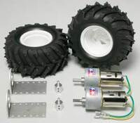 Tamiya 72102 Gear Head Motor + Pin Spike Tire Set