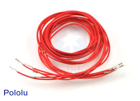 "Wires with Pre-crimped Terminals 5-Pack F-F 36"" Red"