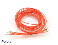"Wires with Pre-crimped Terminals 5-Pack F-F 36"" Orange"