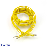 "Wires with Pre-crimped Terminals 5-Pack F-F 36"" Yellow"