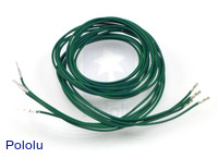 "Wires with Pre-crimped Terminals 5-Pack M-F 36"" Green"