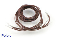 "Wires with Pre-crimped Terminals 5-Pack M-M 36"" Brown"