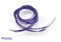 "Wires with Pre-crimped Terminals 5-Pack M-M 36"" Purple"