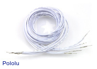"Wires with Pre-crimped Terminals 5-Pack M-M 36"" White"