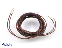 "Wires with Pre-crimped Terminals 2-Pack F-F 60"" Brown"