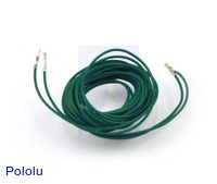 "Wires with Pre-crimped Terminals 2-Pack F-F 60"" Green"