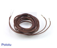 "Wires with Pre-crimped Terminals 2-Pack M-F 60"" Brown"