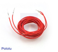"Wires with Pre-crimped Terminals 2-Pack M-F 60"" Red"