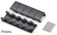 Miniature Track Link and Pin - Black (10-Pack)