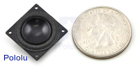18mm speaker with US quarter for size reference.