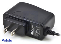 Wall Power Adapter: 5VDC, 1A, 5.5×2.1mm Barrel Jack, Center-Positive