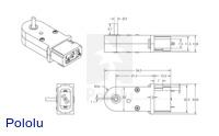 120:1 Mini Plastic Gearmotor 90-Degree 3mm D-Shaft Output