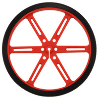 Pololu wheel 90×10mm – red.