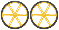 Pololu Wheel 90x10mm Pair - Yellow