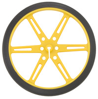 Pololu wheel 80×10mm – yellow.