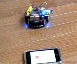 iPhone-controlled 3pi Robot.