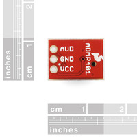 ADMP401 MEMS microphone carrier, bottom view.