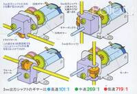 Tamiya 70103 Universal Gearbox box back.