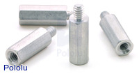 "Aluminum Standoff: 1/2"" Length, 4-40 Thread, M-F (4-Pack)"