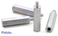 "Aluminum Standoff: 3/4"" Length, 4-40 Thread, M-F (4-Pack)"