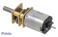 100:1 Micro Metal Gearmotor with Extended Motor Shaft