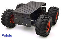 Dagu Wild Thumper 4WD all-terrain chassis, black.