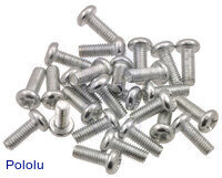 Machine Screw: M3, 8mm Length, Phillips (25-pack)