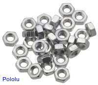 Machine Hex Nut: M3 (25-pack)