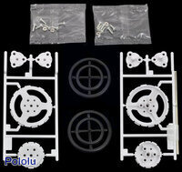 Parts included in the Tamiya 70193 Slim Tire Set.