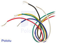 6-lead, unipolar/bipolar stepper motor wires are terminated with bare leads.