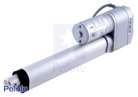 "Concentric LACT6P-12V-20 Linear Actuator with Feedback: 6"" Stroke, 12V, 0.5""/s"
