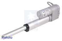"Concentric linear actuator with feedback, 4"" Stroke (LACT4P), shaft fully extended."