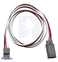 "Servo Extension Cable 24"" Male - Female"
