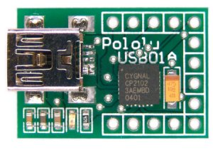 Pololu USB-to-serial adapter with CP2102