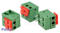 "Screwless Terminal Block: 2-Pin, 0.2"" Pitch, Side Entry (3-Pack)"