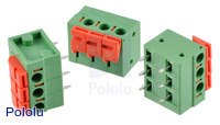 "Screwless Terminal Block: 3-Pin, 0.2"" Pitch, Side Entry (3-Pack)"