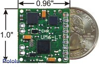 CHR-UM6-LT orientation sensor dimensions.