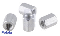 "Aluminum Standoff: 1/4"" Length, 4-40 Thread, F-F (4-Pack)"