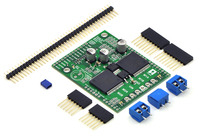 Pololu dual VNH5019 motor driver shield for Arduino (ash02a) with included hardware.