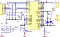 MC33887 motor driver carrier (md05a) schematic.