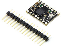 A4988 stepper motor driver carrier, Black Edition, with included hardware.